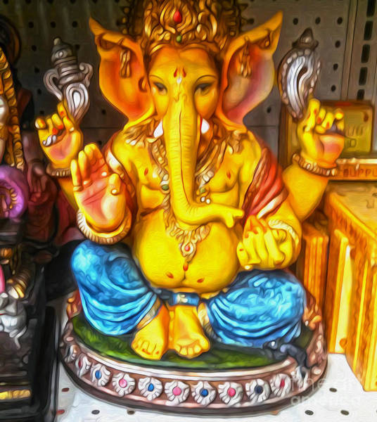 Painting - Little Ganesha by Gregory Dyer