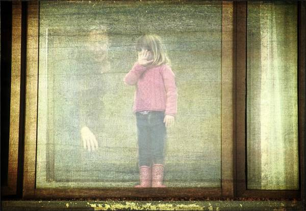Photograph - Little Girl At The Window by Alice Gipson