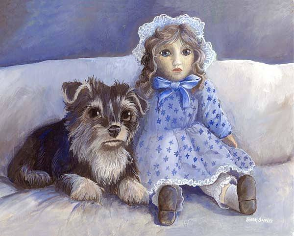 Painting - Waiting For Susan by Sherry Shipley