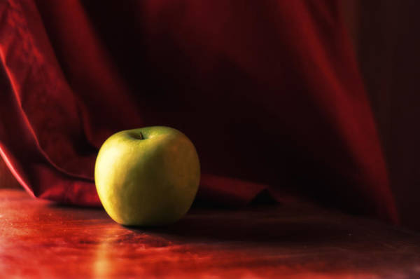 Green Apple Photograph - Little Green Apple by Susan Capuano