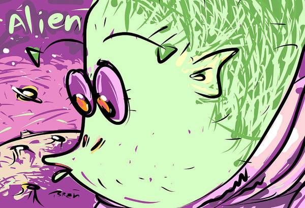 Little Planet Digital Art - Little Green Men by Brett LaGue