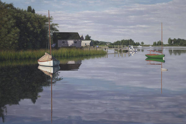 Falmouth Wall Art - Painting - Little Harbor Morning by Julia O'Malley-Keyes