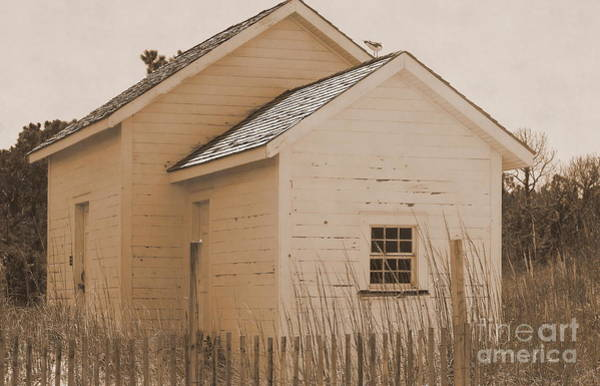 Harker Photograph - Little House At Cape Lookout In Sepia  by Cathy Lindsey