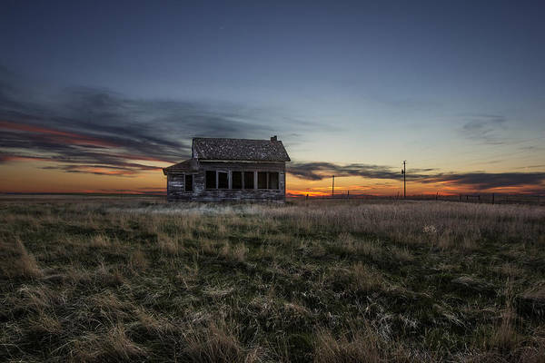 Dakota Photograph - Little House On The Prairie by Aaron J Groen