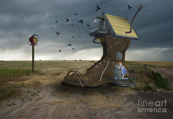 Bird House Photograph - Little House On The Prairie by Juli Scalzi