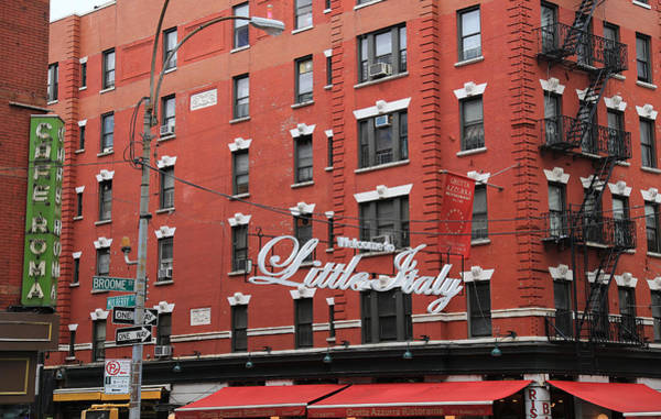 Photograph - Little Italy New York 1 by Andrew Fare