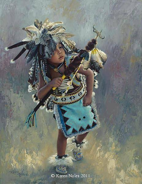 Wagon Wheel Digital Art - Little Kootenai Dancer by Karen Noles
