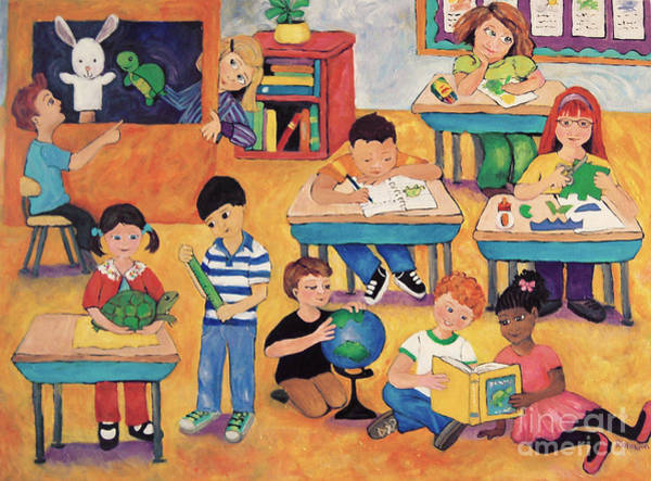 Classroom Painting - Little Learners by Peggy Johnson