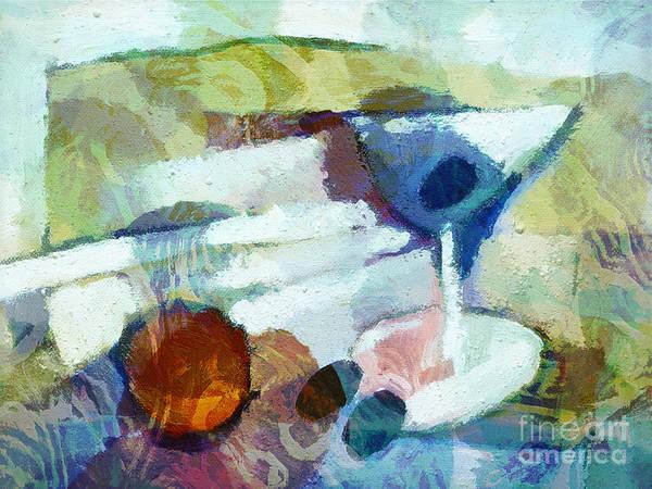 Painting - Little Martini Impasto by Lutz Baar