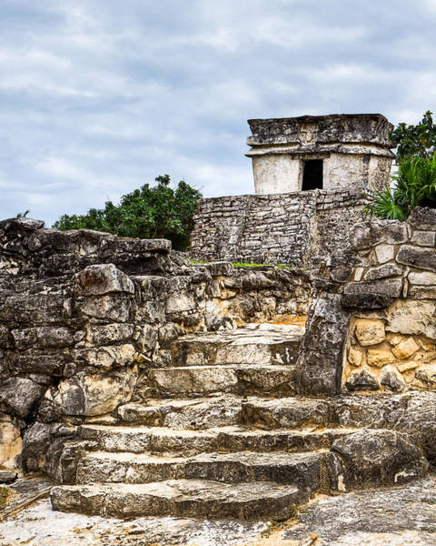 Wall Art - Photograph - Little Mayan Temple At Tulum by Mark Tisdale