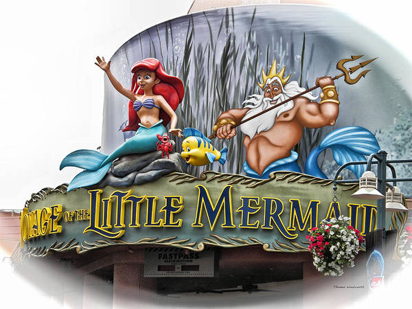 Wall Art - Photograph - Little Mermaid Signage by Thomas Woolworth