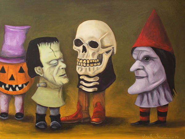 Painting - Little Monsters by Leah Saulnier The Painting Maniac