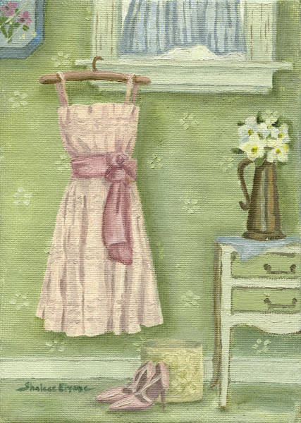 Painting - Little Pink Dress by Shalece Elynne