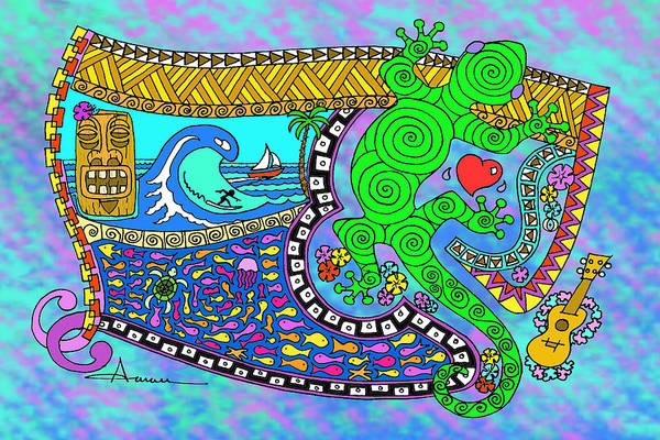 Wall Art - Drawing - Little Pleasures Big Island by Aaron Bodtcher