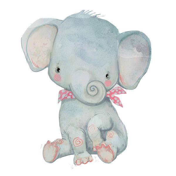 Cut-out Digital Art - Little Pocket Elephant by Cofeee