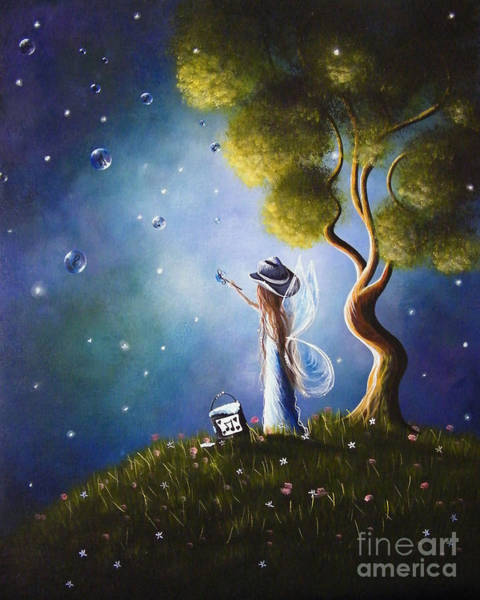 Happy Little Trees Painting - Little Possibilities Fairy Art By Shawna Erback by Erback Art