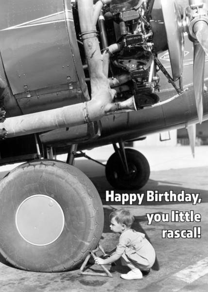 Wall Art - Photograph - Little Rascal Birthday Greeting Card by Communique Cards