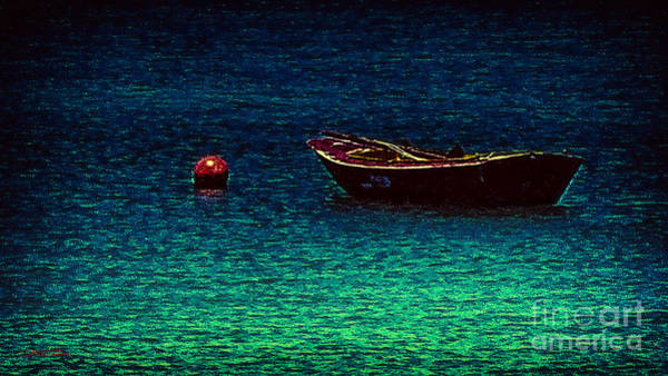 Cultivation Digital Art - Little Red Buoy by Charles Davis