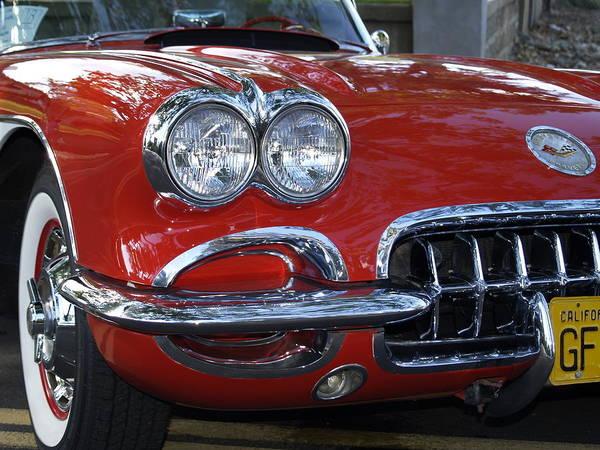 Classic Hot Rod Wall Art - Photograph - Little Red Corvette by Bill Gallagher