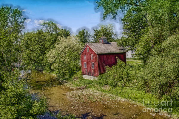 - Little Red House Along The Creek by Jim Lepard