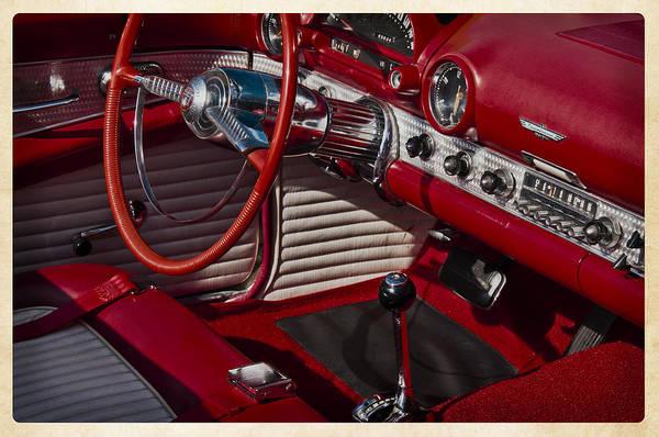 Ballston Spa Photograph - Little Red T-bird by Julie Palyswiat