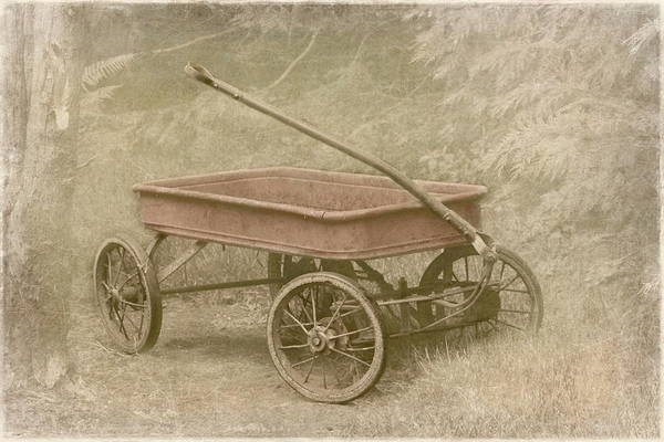 Red Wagon Wall Art - Photograph - Little Red Wagon by Angie Vogel