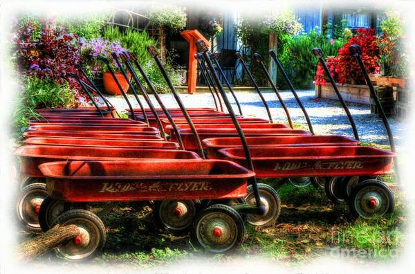 Photograph - Little Red Wagons by Mel Steinhauer