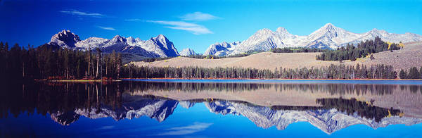 Redfish Lake Photograph - Little Redfish Lake Mountains Id Usa by Panoramic Images