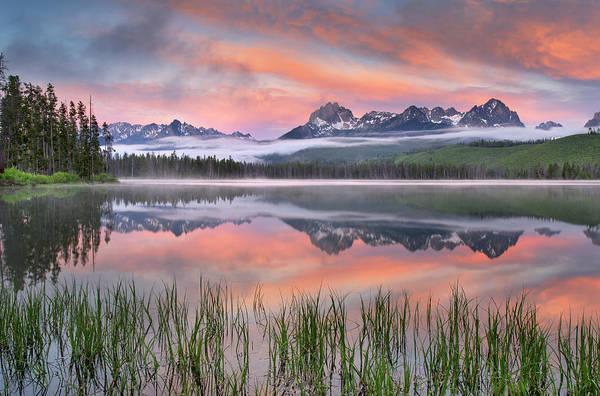 Redfish Lake Photograph - Little Redfish Lake, Sawtooth Mountains by Alan Majchrowicz
