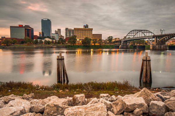 Photograph - Little Rock Arkansas Skyline From The River by Gregory Ballos