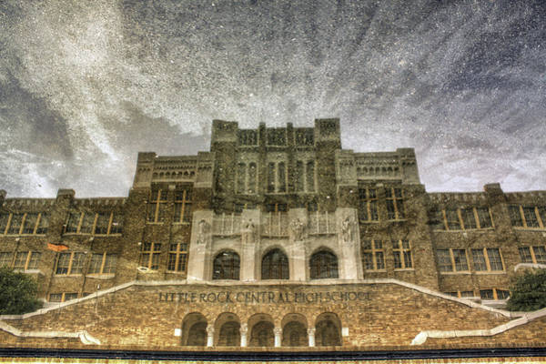 Photograph - Little Rock Central High Reflecting Upon The Past by Jason Politte