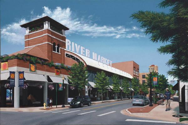 Little Rock River Market Art Print