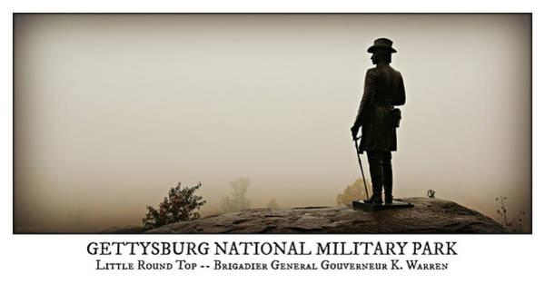 Gettysburg Battlefield Photograph - Little Round Top -- Poster by Stephen Stookey