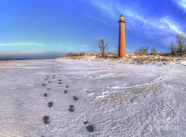 Hart Wall Art - Photograph - Little Sable Lighthouse In Winter by Twenty Two North Photography