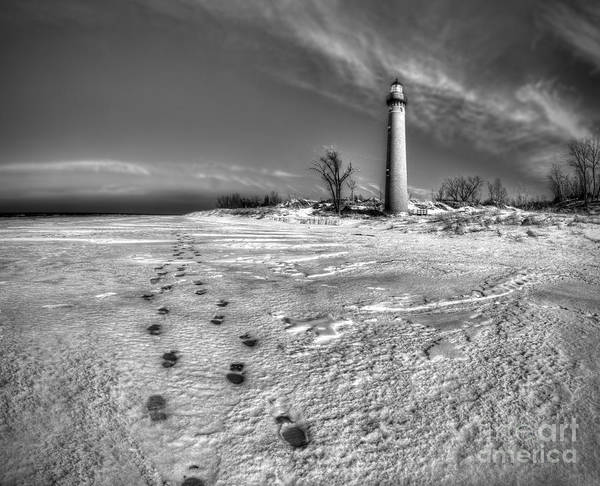 Hart Wall Art - Photograph - Little Sable Winter In Black And White by Twenty Two North Photography