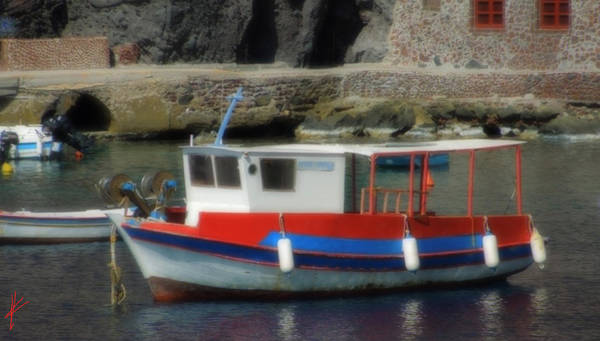 Photograph - Little Santorini Fish Boat  by Colette V Hera  Guggenheim