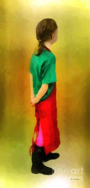 Painting - Little Shopgirl by RC DeWinter