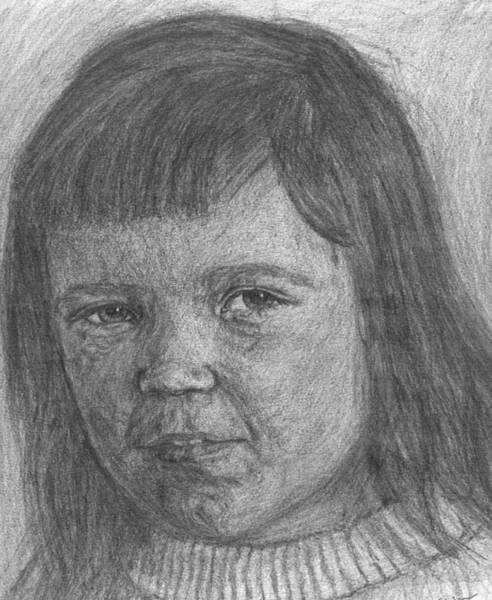 Drawing - Little Sister 2 by Sami Tiainen