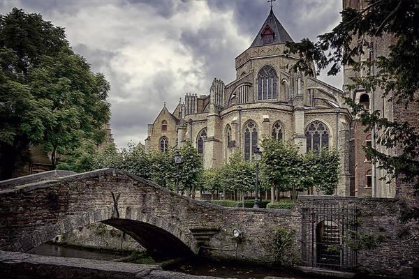 Photograph - Little Stone Bridge By The Church by Joan Carroll