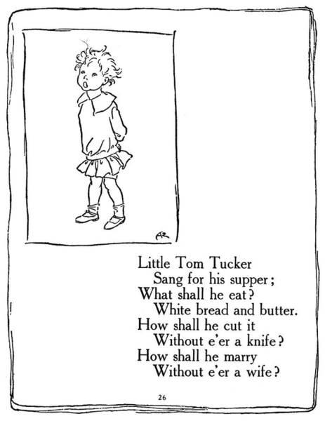 Mother Goose Drawing - Little Tom Tucker, 1913 by Granger