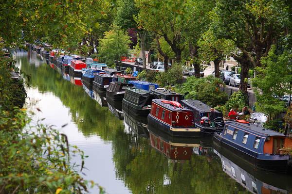 Houseboat Photograph - Little Venice In London by Dan Breckwoldt
