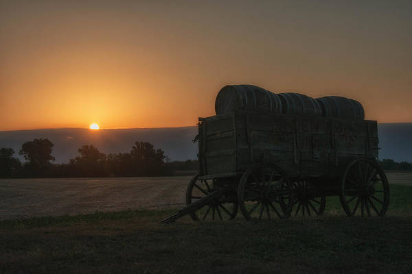 Photograph - Little Wagon On The Prairie by Darlene Bushue
