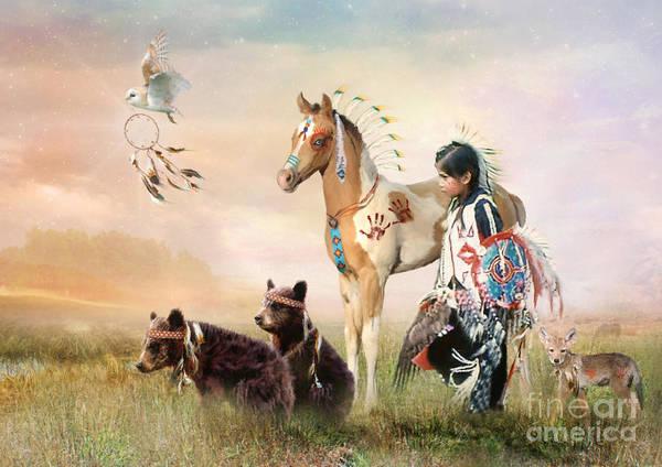 Wall Art - Digital Art - Little Warriors by Trudi Simmonds