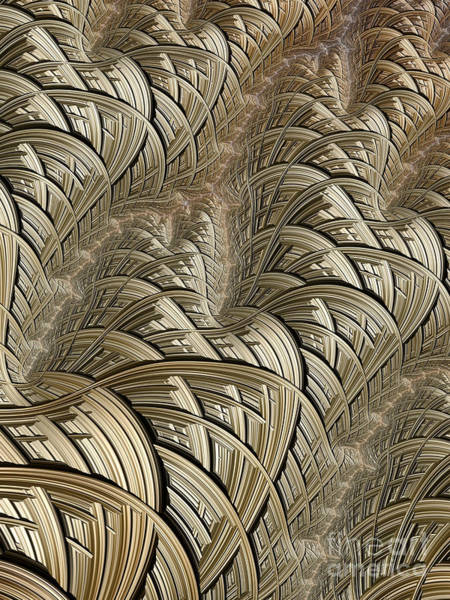 Braids Wall Art - Digital Art - Litz Wire Abstract by John Edwards