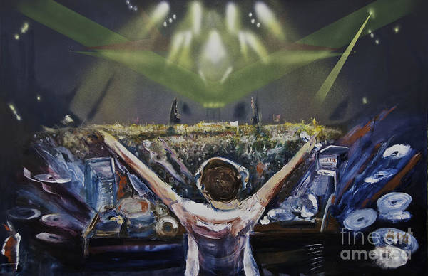 Painting - Live Dj by James Lavott