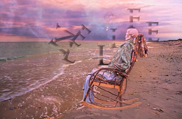 Chair Mixed Media - Live Life by Betsy Knapp