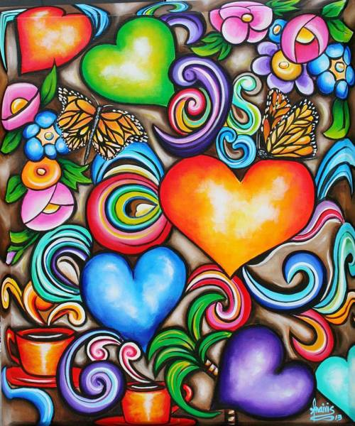 Wall Art - Painting - Live Live My Love by Annie Maxwell