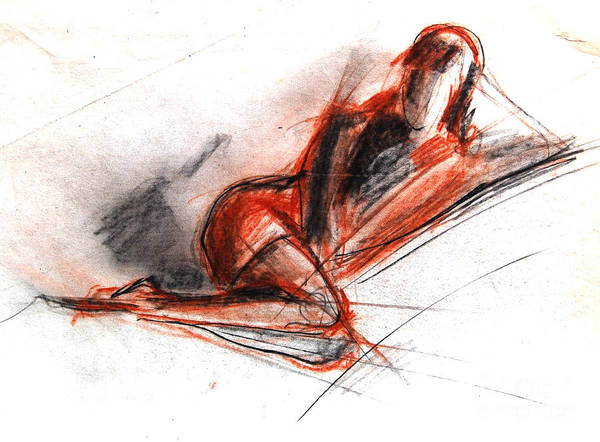 Model Drawing - Live Model Study 3 by Mona Edulesco