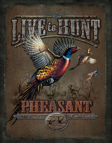 Upland Wall Art - Painting - Live To Hunt Pheasants by JQ Licensing