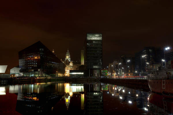 Photograph - Liverpool Docks At Night by Beverly Cash